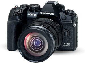 Olympus M1 Mark III Fotocamera, flash, tracolla, batteria, caricabatteria, tappo per corpo macchina Micro Quattro Terzi, clip per cavo, cavo USB, software Olympus Viewer, istruzioni d'uso, garanzia