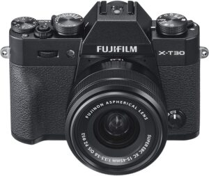 Fujifilm T30 Filamti 4k 30p e wifi per controllo remoto e trasferimento immagini a smarphone e tablet