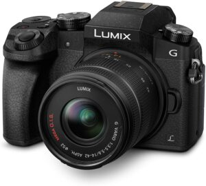 Panasonic G7 Con zoom digitale 4x e registrazione di video in 4K.
