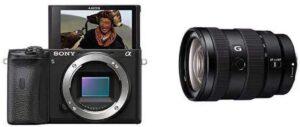 Alpha a6600 Obiettivo Carl Zeiss con SteadyShot, tecnologia dell'obiettivo AA e apertura F4 su tutta la gamma focale di 24-105 mm
