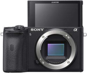 Sony Alpha a6600 Touchscreen pieghevole a 180° e mirino OLED.