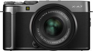 Fujifilm X-A7 contrasto d'immagine e rilevamento di fase, af eye detection, af singe point / zone/ wide / tracking
